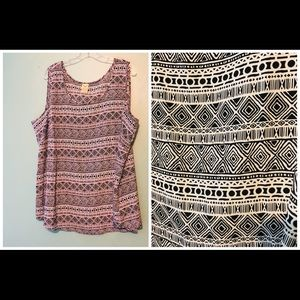 Plus size 3X polyester tank top